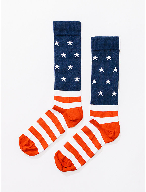 US Flag Calf-High Socks