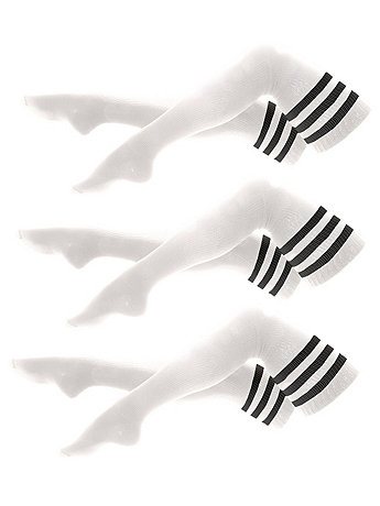 Stripe Thigh-High Socks (3-Pack)