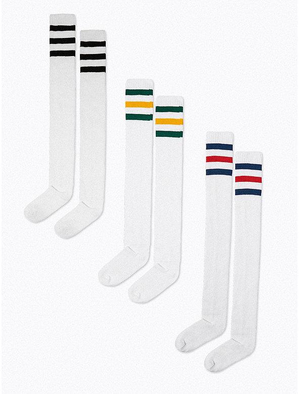 Stripe Thigh-High Socks