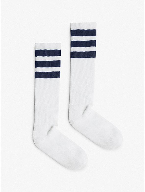 Stripe Calf-High Sock