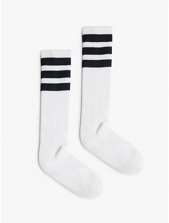 Unisex Stripe Calf-High Sock