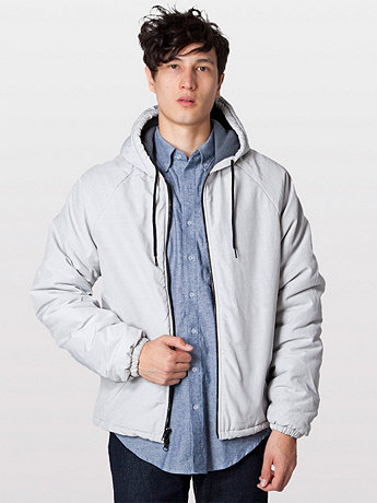 Slub Nylon Fleece-Lined Parka