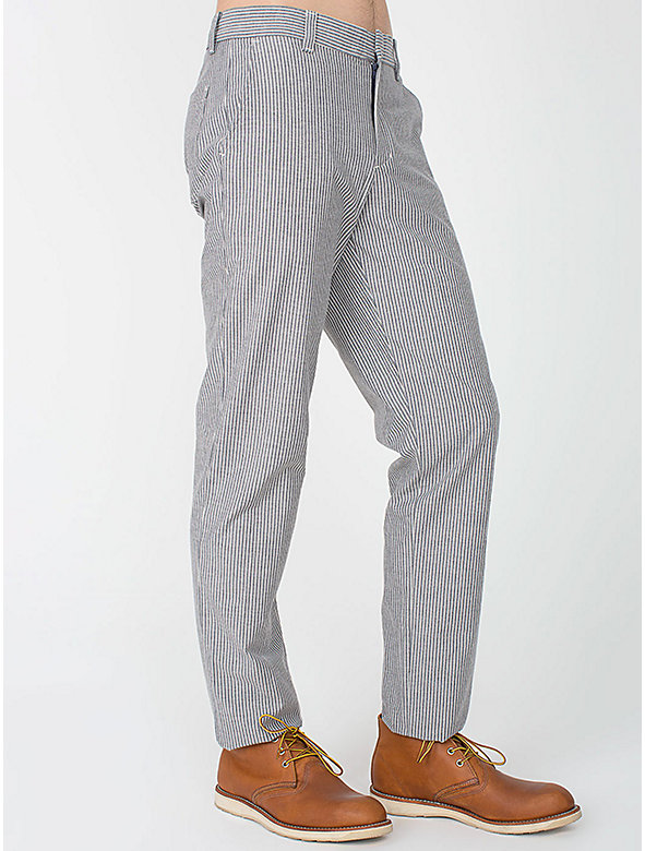 Stretch Chambray Stripe Travel Pant
