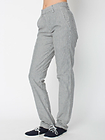 Unisex Stretch Chambray Stripe Travel Pant