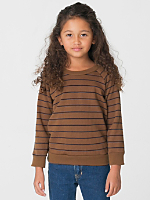 Kids' Striped Fleece Raglan Pullover