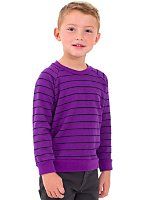 Kids Striped Fleece Raglan Pullover
