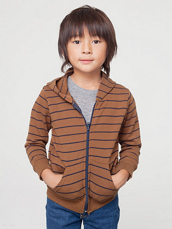 Kids Striped Fleece Zip Hoodie