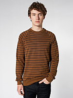 Stripe Fleece Raglan Pullover