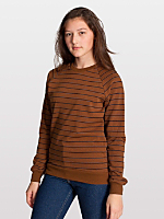 Unisex Stripe Fleece Raglan Pullover
