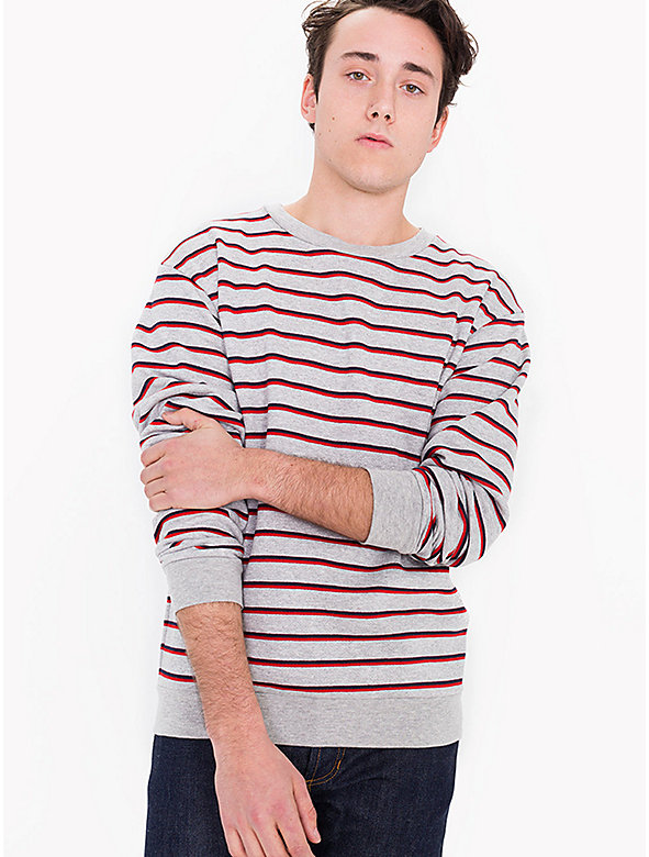 Striped Drop Shoulder Pullover