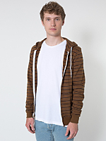 Striped Fleece Zip Hoodie