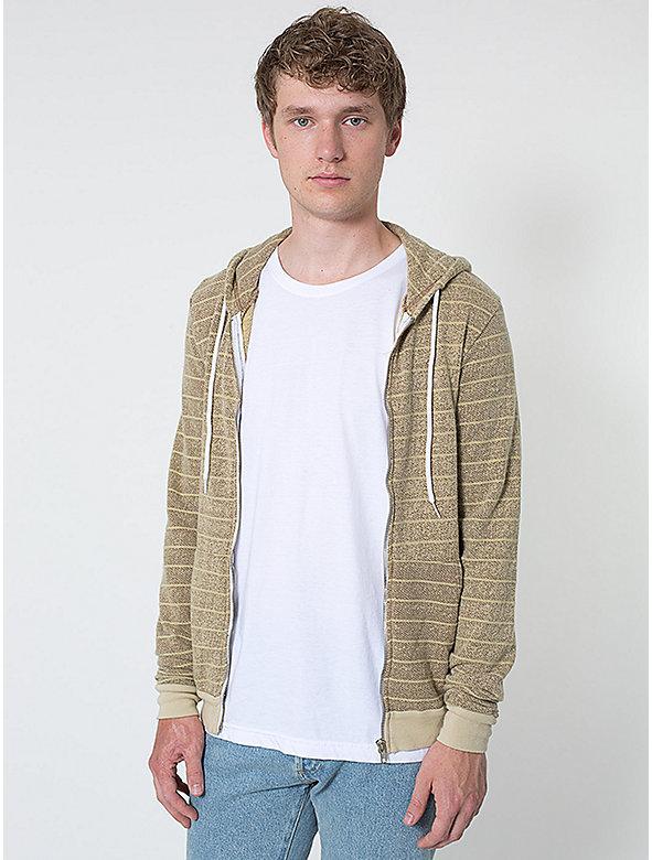 Over-Dyed Stripe Fleece Hoodie