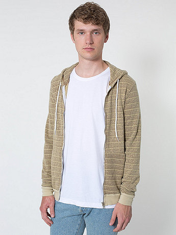 Over-Dyed Stripe Fleece Hoodie