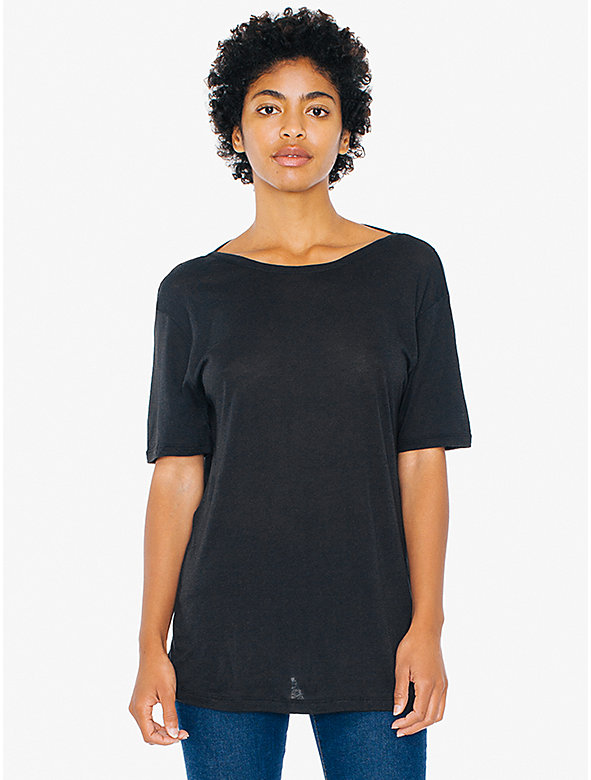 Cotton Modal Open Back T-Shirt
