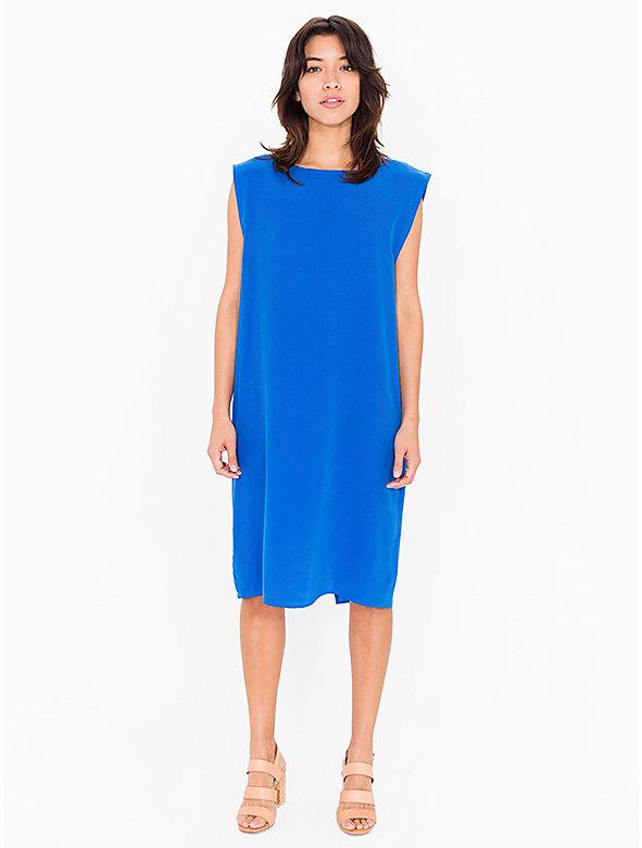 Washed Silk Midi Dress