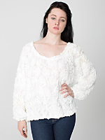 3-D Flower Mesh Jumper