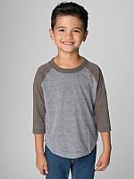Kids Tri-Blend 3/4 Sleeve Raglan
