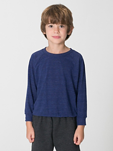 Kids' Tri-Blend Raglan Pullover