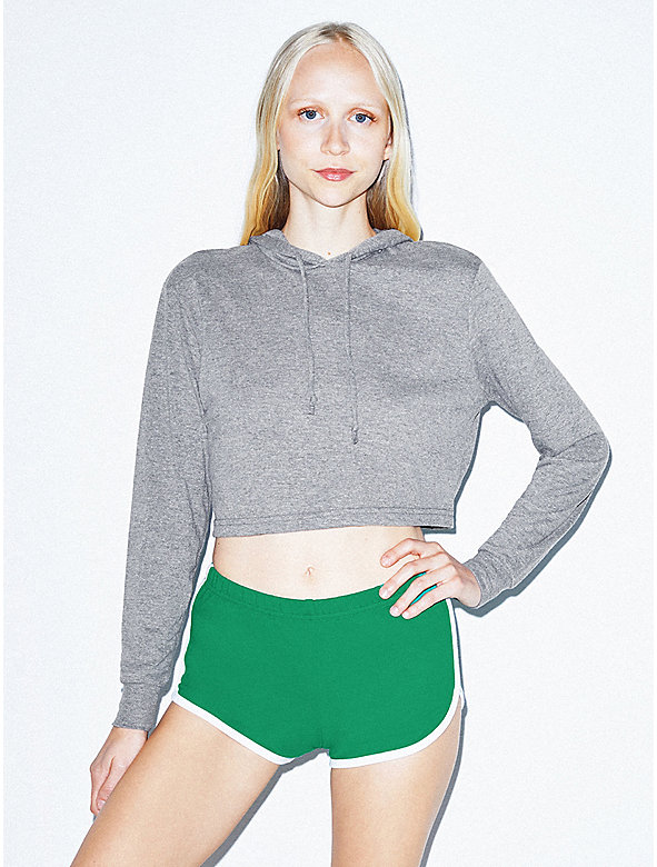 Tri-Blend Pullover Cropped Hoodie