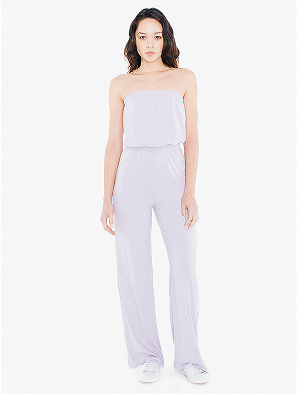 Tri-Blend Strapless Wide Leg Jumpsuit