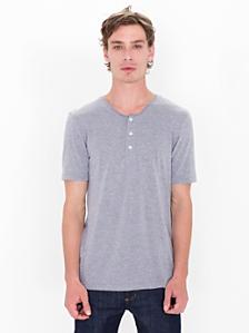 Tri-Blend Short Sleeve Henley Tee