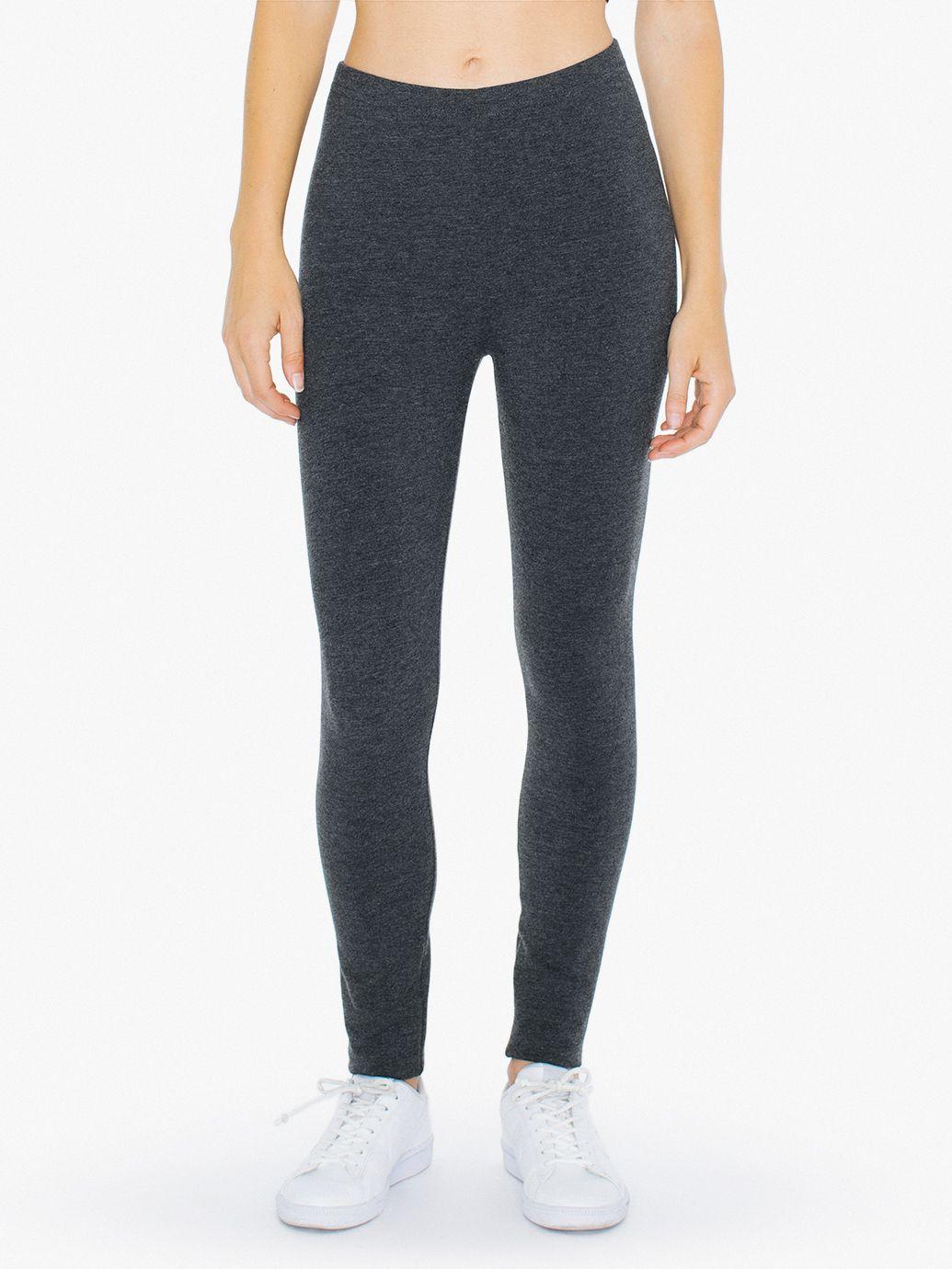 Cotton Spandex Jersey High-Waist Leggings | American Apparel