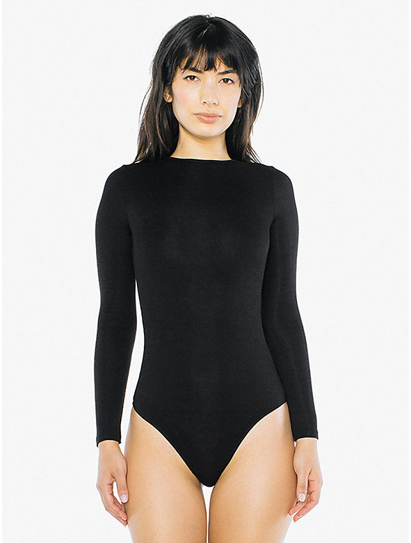 2x2 Rib Long Sleeve Crewneck Bodysuit