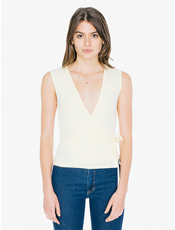 2x2 Rib Sleeveless Julliard Wrap Top