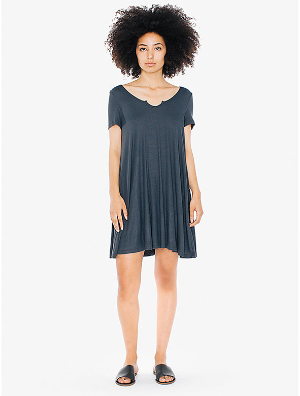2x2 Rib Short Sleeve 'Easy' Mini Dress
