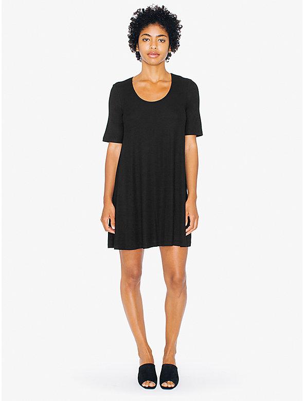 2x2 Rib T-Shirt Dress