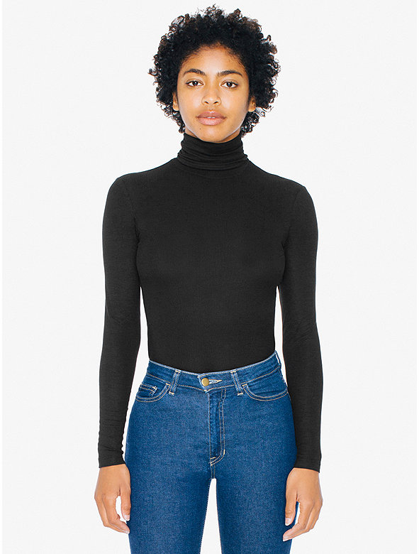 2X2 Turtleneck Long Sleeve Top