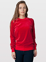 Unisex Velour Long Sleeve Raglan