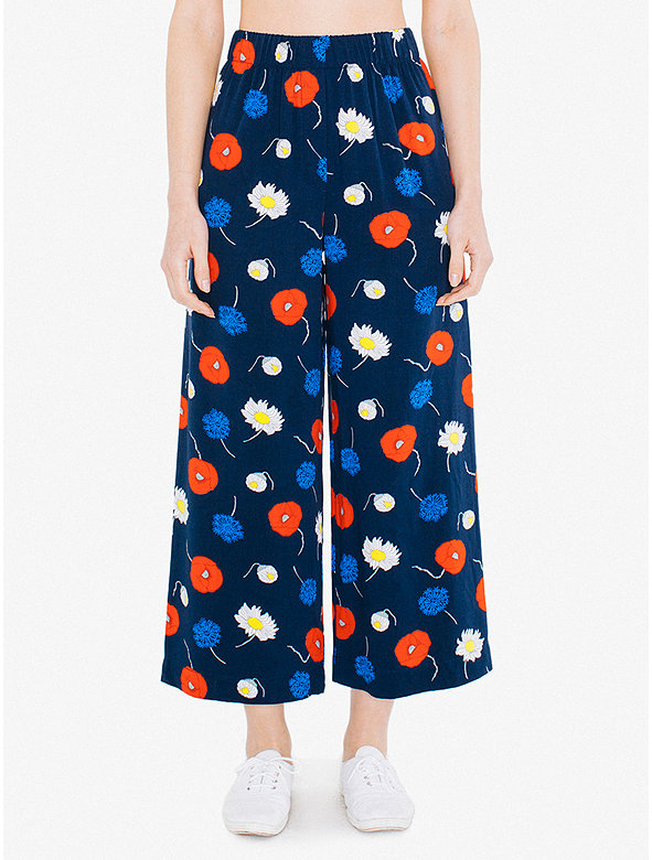 Printed Viscose Twill Chicago Ankle Pant