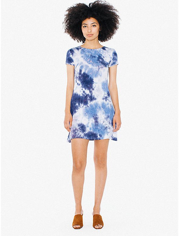 Tie-Dye Viscose T-Shirt Dress