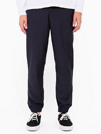 Viscose Twill Welt Pocket Pant with Elastic Cuff