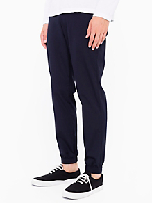 Viscose Twill Welt Pocket Pant with Elastic Cuff