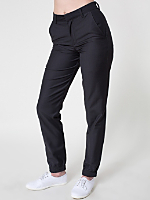 Unisex Viscose Twill Welt Pocket Pant with Elastic Cuff