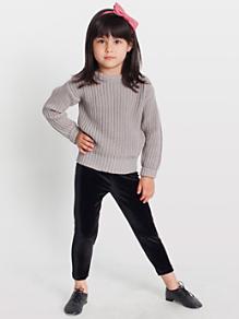 Kids' Stretch Velvet Legging