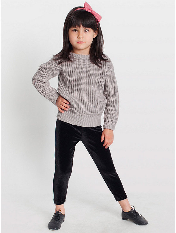 Kids' Stretch Velvet Legging