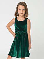 Kids Stretch Velvet Skater Dress