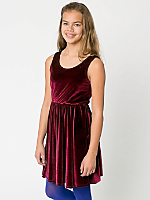 Youth Stretch Velvet Skater Dress