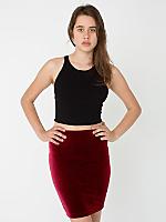 Velvet Pencil Skirt