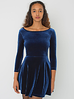 Stretch Velvet Skater Dress