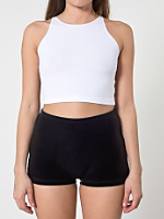 Stretch Velvet Tap Short