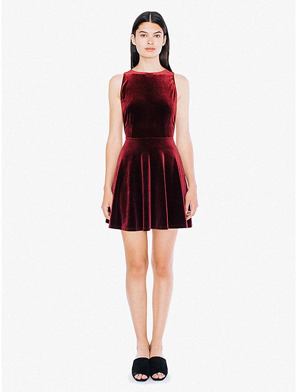 Velvet Sleeveless Skater Dress