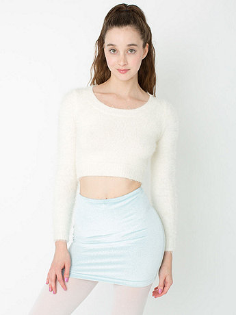 Glitter High-Waist Velvet Mini Skirt