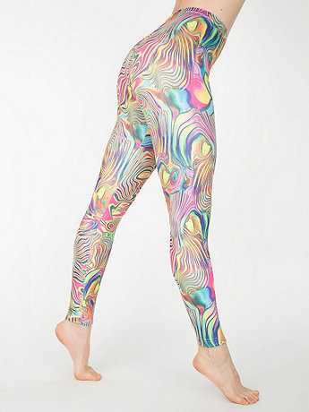 Psychedelic Stretch Velvet Legging