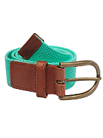 Unisex Spun Poly-Web Leather Belt