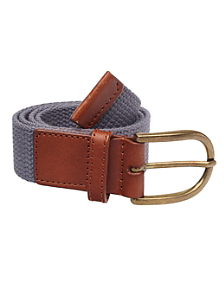 Unisex Spun Poly-Web Leather Belt