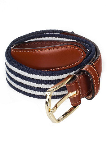 Striped Web Belt
